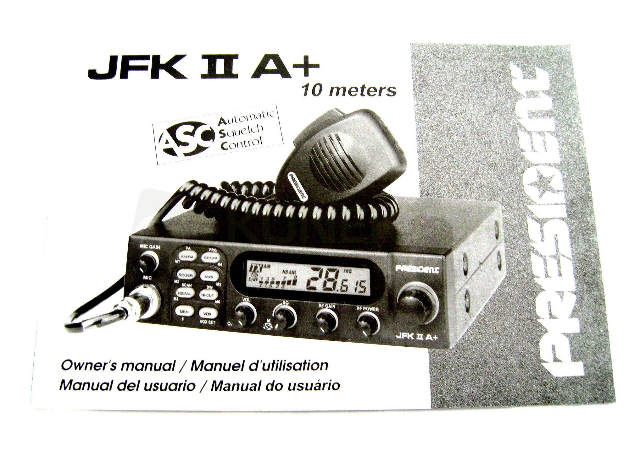 president jfk 2 cb radio