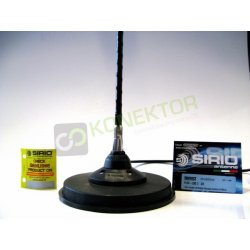 SIRIO FLEX LOG 3 MAG Antena CB magnesowa helikalna TOP LOADED 95cm dłuższy kabel 6m